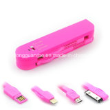 Sinc. suiza Cable del USB in-1 de Army Knife Style 3 para Samsung y el iPhone 4 4s 5 6