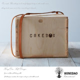 Коробка торта Hongdao деревянная с ручкой