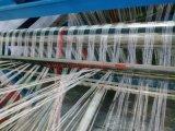 プラスチックによって編まれる袋6のシャトルの回状の織機