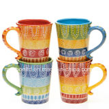 Tamale certificato Ceramic/Porcelain Mugs/Cups (Set di International Hot di 4)