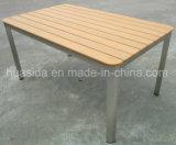 Сад/патио/используемая трактиром таблица нержавеющей стали напольная обедая