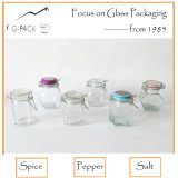 Zylinder Glass Jar mit Flip herauf Cap für Salt, Pepper, Spice Storage