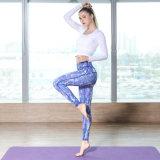 Pantaloni alti di yoga di sport di stampa stretta di ginnastica 3D