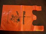 HDPEによってカスタマイズされる印刷のプラスチックベストのハンドルのショッピング・バッグ