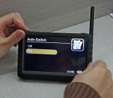 """el movimiento de la pantalla de 5 """" LCD detecta el receptor sin hilos portable 8chs"""