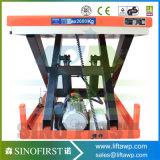 Scissor hydraulisches elektrisches Holz der Rollen-2ton Aufzug-Verkäufe