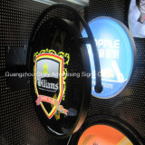 Publicidade acrílica 3D Beer Bottle LED Signs Light Box