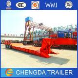 Chinesische Tri-Wellen 60ton niedriger Bett-halb Schlussteil-/Lowbed LKW-Schlussteil