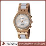 Acero inoxidable sólido Vinculado cerámica de gama alta del reloj de cerámica