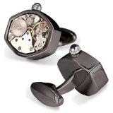 Kundenspezifische Hexagon-Form-Mann-Uhr-Bewegungs-Manschettenknöpfe Cw-1000