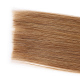 El pelo peruano de la onda de la carrocería de Ombre 3 manojos con el pelo de Ombre del encierro con obscuridad del encierro 1b/4/27 arraiga el pelo rubio de Ombre con el encierro