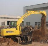 Máquina escavadora 2016 da roda de China a melhor hidráulica com motor Xn80-9 X120-L de Yanmar