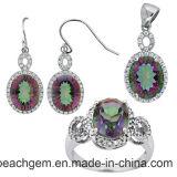 Jewellery способа установленный с камнями цвета (S1224)
