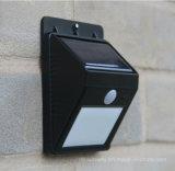 Luz solar del control de la voz de la seguridad del plástico LED