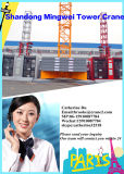 Grue à tour de Tc6118-10t Mingwei avec la bonne qualité et le chargement maximal de prix bas : chargement 10t/Tip : 1.8t