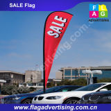 Bandeira de praia ao ar livre impressa costume do Teardrop