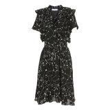 Платье женщин шикарное флористическое с 2 слоями плеча Jiont