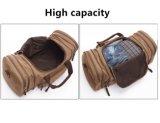 8642の青のコーヒー黒のKahki Zatousの大きい容量の週末袋が付いている特大キャンバス旅行ダッフルバッグ