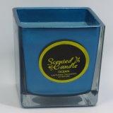 Großhandelsluxus-duftende Sojabohnenöl-Kerze im freien Glasglas