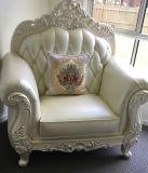 Canapé en cuir de style royal pour meubles de salon (B015)