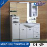 Оптовый пол стоя отраженный PVC классицистический шкаф ванной комнаты