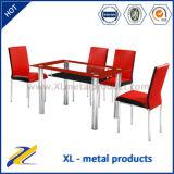 1 + 4 verre de meubles de salle à manger Table en verre Table à manger