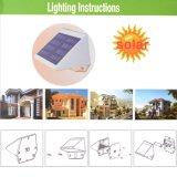 Lumières extérieures solaires en plastique sans fil personnalisées de la couleur 4 DEL
