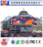 Im Freien farbenreiche hohe Helligkeit P10 LED-Bildschirmanzeige-Video-Wand