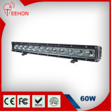 60W 크리 말 Single Row LED Light Bar Car Light