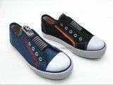 Zapatos de lona elásticos escotados de los niños para los muchachos (ET-LH160267K)