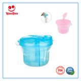 Dispensador de la fórmula de la rotación del envase de leche en polvo de 3 divisiones