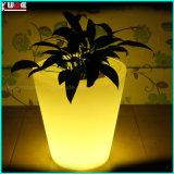 Plastic Opvlammend Licht op de OpenluchtStaand lampen van de Potten van de Bloem van de Ingang