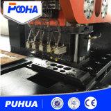 Máquina grossa da imprensa de perfurador do CNC da placa com estação hidráulica