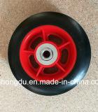 Roda de borracha contínua da borda plástica ou de aço (7 polegadas)