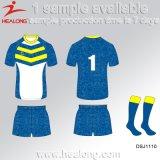 Rugby sublimé pleine par teinture Jersey de polyester de sport de Healong