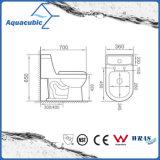 Ééndelig Dubbel Gelijk Wit Ceramisch Toilet (ACT7299)