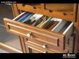 Welbom passte festes Holz-Küche-Luxuxschrank an
