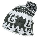 編まれた帽子を編む方法POM POMアクリルのジャカード