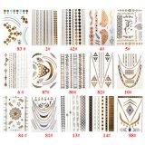 Tijdelijke werkkracht van de Tatoegering van het Blad van de Armband van de Nauwsluitende halsketting van vrouwen de Metaal