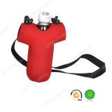 Großhandelsschulter-Riemen-rotes Neopren Isolierflaschen-Deckel