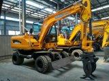 4WD 유압 바퀴 굴착기, 판매를 위한 4X4 굴착기
