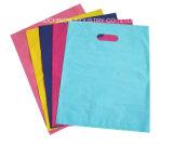 Projetar sacos plásticos cortados impressão do furo de perfurador do LDPE do saco de compra do logotipo