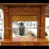 Marmeren Gouden Open haard mfp-362 van Qy van de Open haard van het Graniet van de Steen