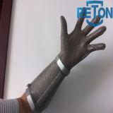 Длинн-Втулка Анти--Отрезала перчатку сетки металла Butcher/перчатку Butcher цепной почты
