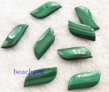 Grânulos naturais da forma de folha da malaquite