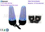 2016 altavoz de la radio de la luz del baile del agua de la alta calidad 4 LED