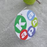 Plegable alrededor de etiqueta de la caída de la tarjeta de papel con la impresión de Cmyk