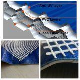Carga sobre el apoyo reforzado con fibra de vidrio Material para techos de PVC de efecto invernadero