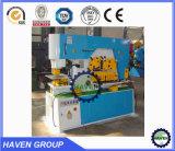 Q35 Y trabalhador de ferro hidráulico hidráulico Combinado máquina de perfuração e corte com entalhe