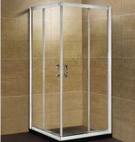 Pièce jointe en verre transparente de douche de glissière de douche d'hôtel bon marché carré de pièce jointe